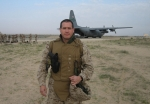 Ramon Cestero (Surgeon in US Navy) leaving Kuwait.  He is currently stationed in Iraq. (MK)